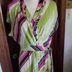 EUC LIZ CLAIBORNE wrap around dress